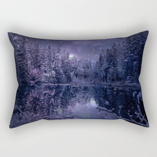 A Cold Winter's Night Rectangular Pillow