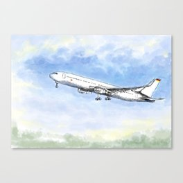 Airplane Flight Canvas Print