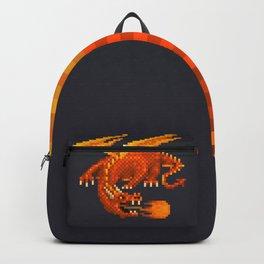 Pixel Fiery Dragon Backpack