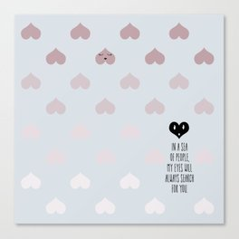 SEA OF HEARTS Canvas Print
