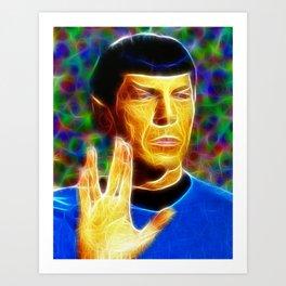 Magical Star Trek Spock Art Print