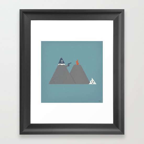 Snow Capped Framed Art Print