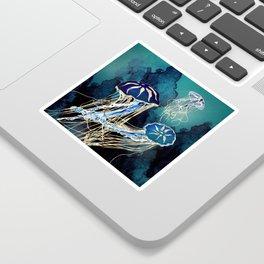 Metallic Jellyfish III Sticker