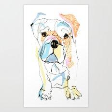 Bulldog Colour Art Print