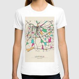 Colorful City Maps: Louisville, Kentucky T-shirt