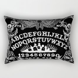 Ouija Board Black Rectangular Pillow