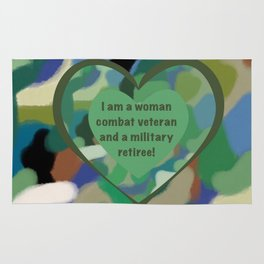 Woman Combat Veteran and Military Retiree Rug