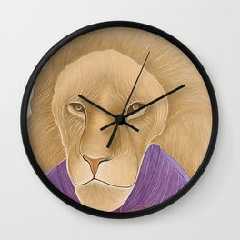 The Importance of being a Lion Wall Clock