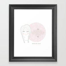 She Will be Loved Framed Art Print