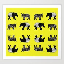 Dance of the Tapirs Art Print