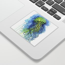 Jellyfish Watercolor Beautiful Sea Creatures Sticker