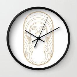 Girl Art Deco 01 Wall Clock