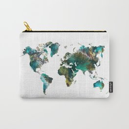 Map of the World tree #map #world Carry-All Pouch