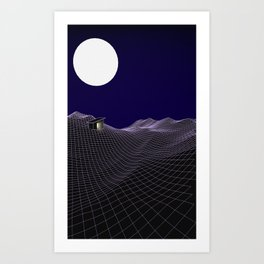 Cabin in the (not) Woods Art Print