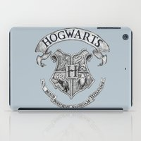 hogwarts iPad Cases featuring Hogwarts by Cécile Pellerin