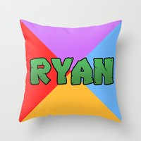 tmnt Throw Pillows featuring tmnt by Amy Lovesowls