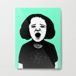 Cutout Turquoise Metal Print