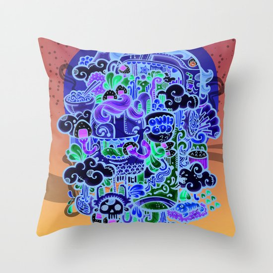 Midnignt Hunger Throw Pillow