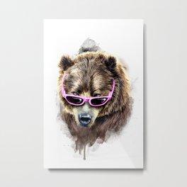 Cool shy bear Metal Print