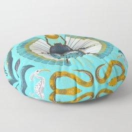 Egyptian Scarab Floor Pillow
