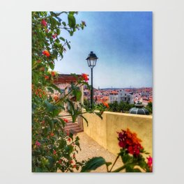Summer days in Lisbon. Fine Art Photography. Canvas Print
