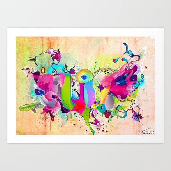 Mystic Fruits Art Print