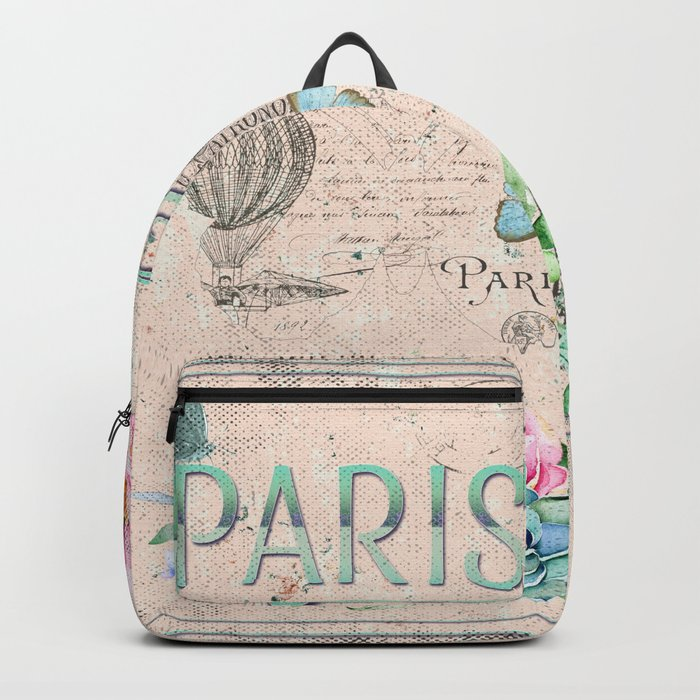 Paris - my love - France Nostalgy- pink French Vintage Backpack