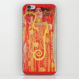 Gustav Klimt - Greek Goddess of Medicine Hygeia iPhone Skin