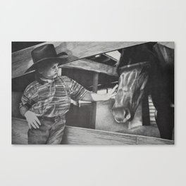 A boy and his horse Canvas Print