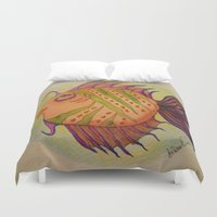 potter Duvet Covers featuring MRS. POTTER by Caribbean Critters Co.