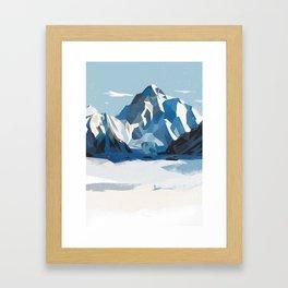 K2 mountain Framed Art Print