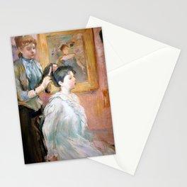12,000pixel-500dpi - Berthe Morisot - The Hairdressing, La Coiffure - Digital Remastered Edition Stationery Cards