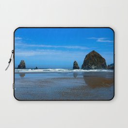 Haystack Rock Cannon Beach Laptop Sleeve