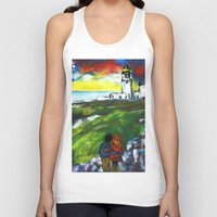 lighthouse Tank Tops featuring lighthouse by Nastya Bo