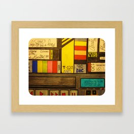 """VHS Memories"" Framed Art Print"