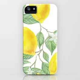 Lemon Leaf iPhone Case