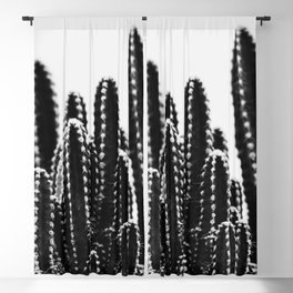 Minimal Cactus Blackout Curtain