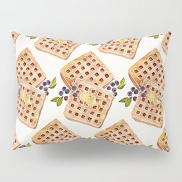 Blueberry Breakfast Waffles Pillow Sham