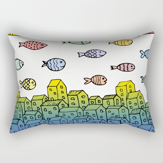 Underwater village II Rectangular Pillow