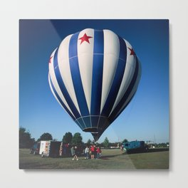 Red, White, and Blue Balloon Launch Metal Print