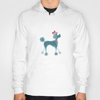 poodle Hoodies featuring Poodle by Cathy Brear