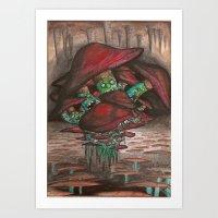 Mushrooms of Madness Art Print