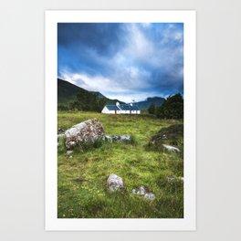 Cottage in Glencoe Art Print