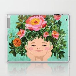 Spring Flower Girl Laptop & iPad Skin