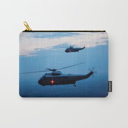 Support Helicopters Fly at Dusk Carry-All Pouch