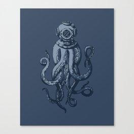 Scuba Octopus Canvas Print