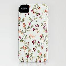 floral vines - neutrals iPhone (4, 4s) Slim Case