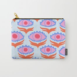 Pink Evil Eye Carry-All Pouch