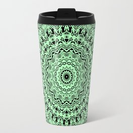 Black & green kaleidoscope Travel Mug