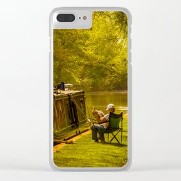 Just Relaxing Clear iPhone Case